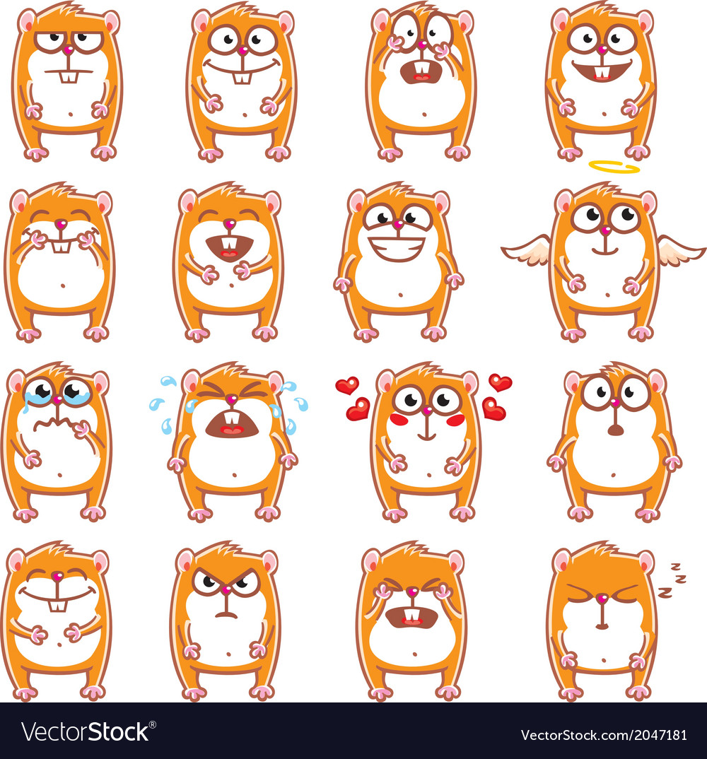 Smiley hamsters vector | Price: 1 Credit (USD $1)