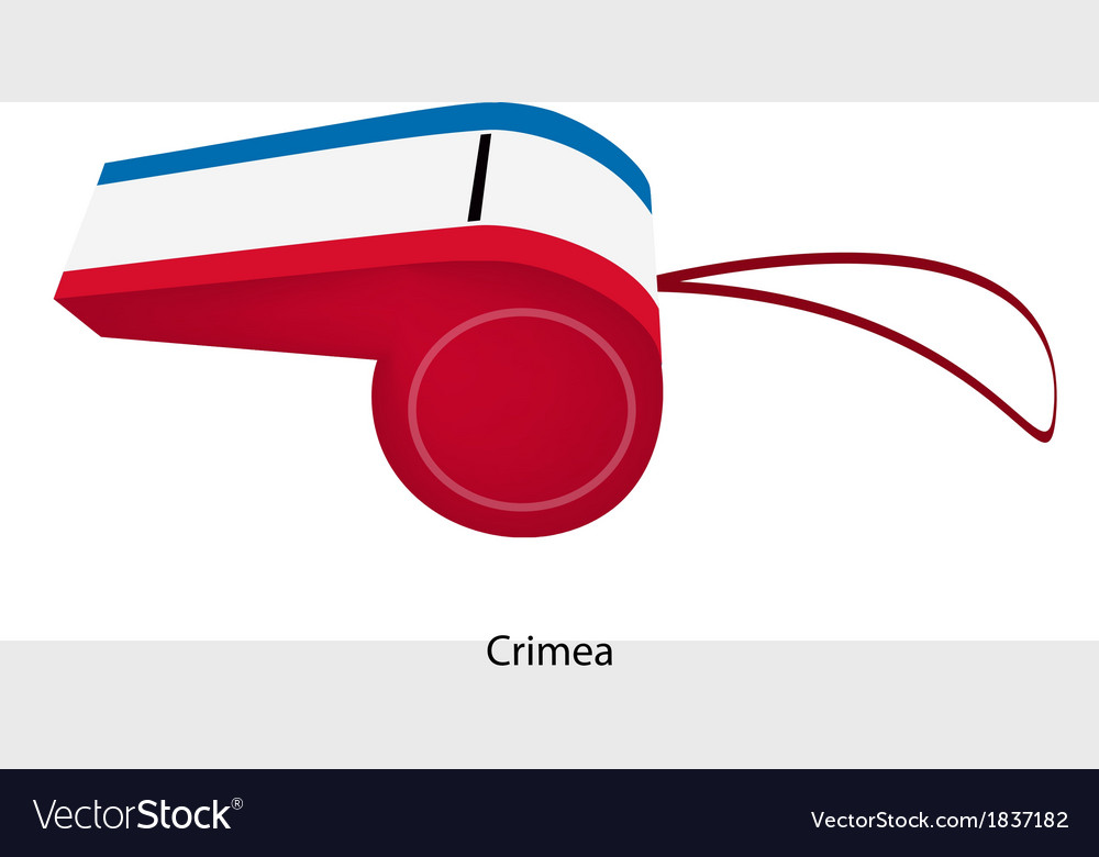 A whistle of autonomous republic of crimea vector | Price: 1 Credit (USD $1)