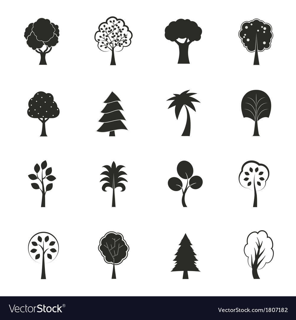 Abstract ecology growth icons set vector | Price: 1 Credit (USD $1)