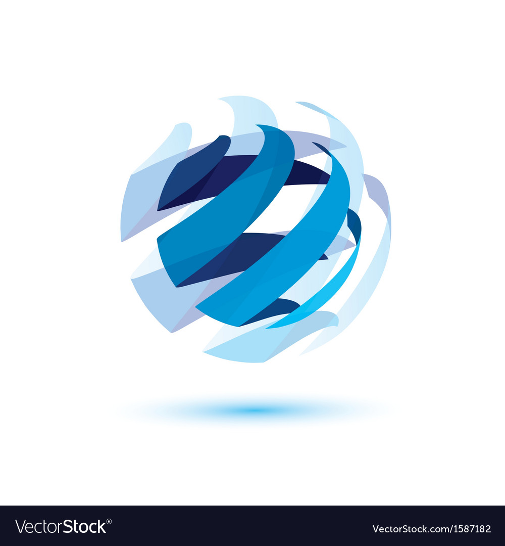 Abstract globe symbol vector | Price: 1 Credit (USD $1)