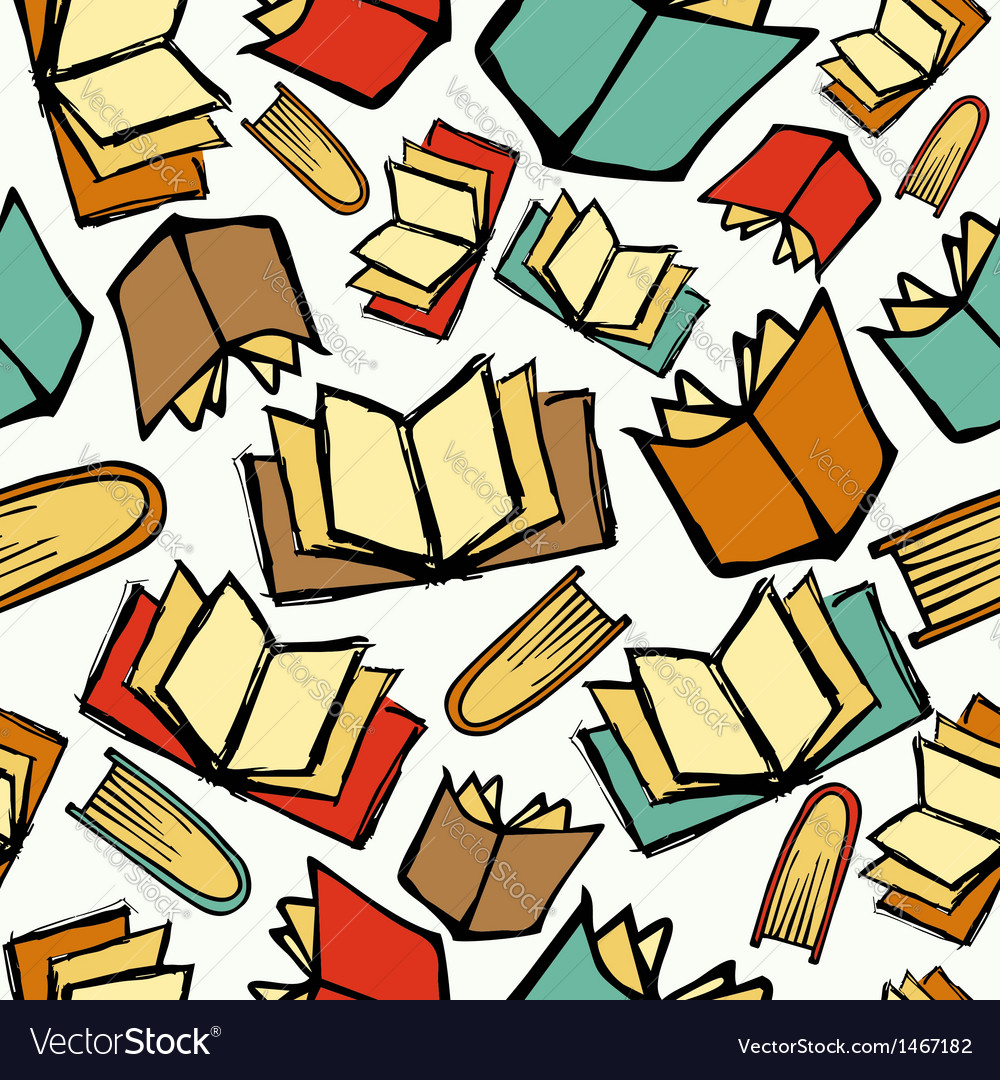 Back to school books pattern vector | Price: 1 Credit (USD $1)