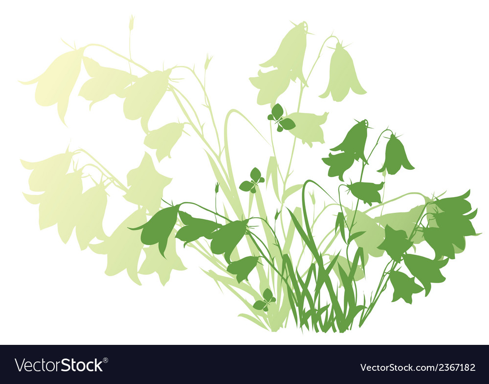 Background with flowers bluebells vector | Price: 1 Credit (USD $1)