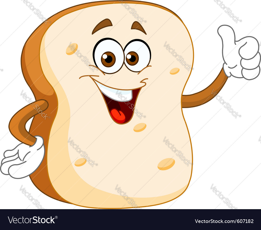 Bread slice cartoon vector | Price: 3 Credit (USD $3)