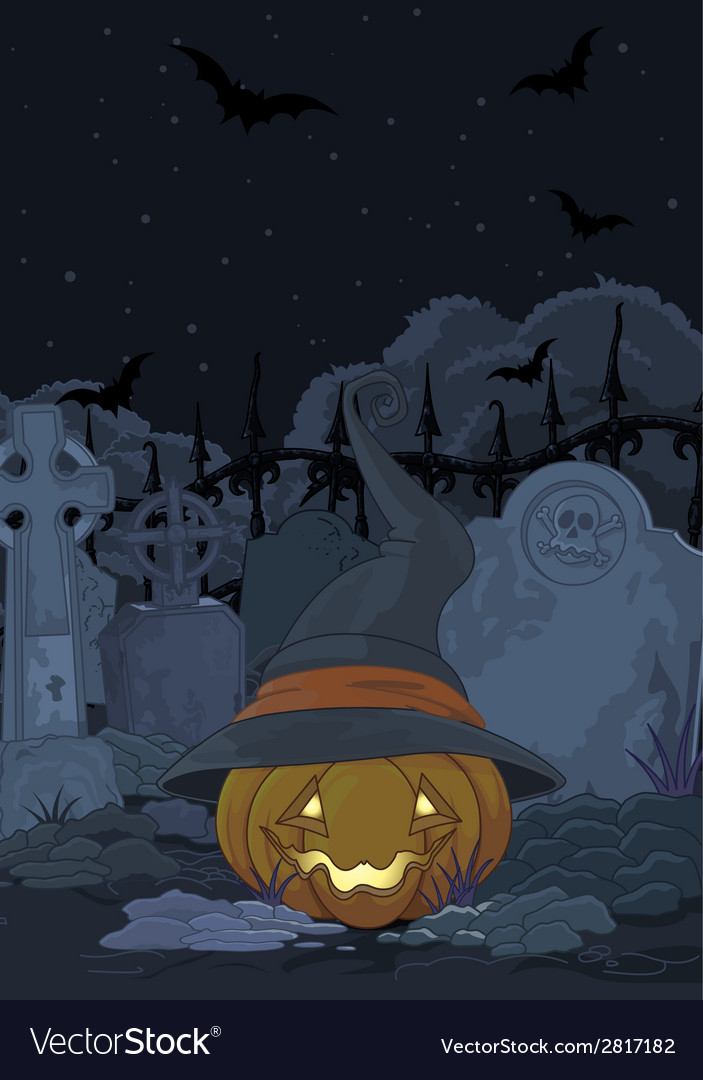 Cemetery pumpkin vector | Price: 1 Credit (USD $1)