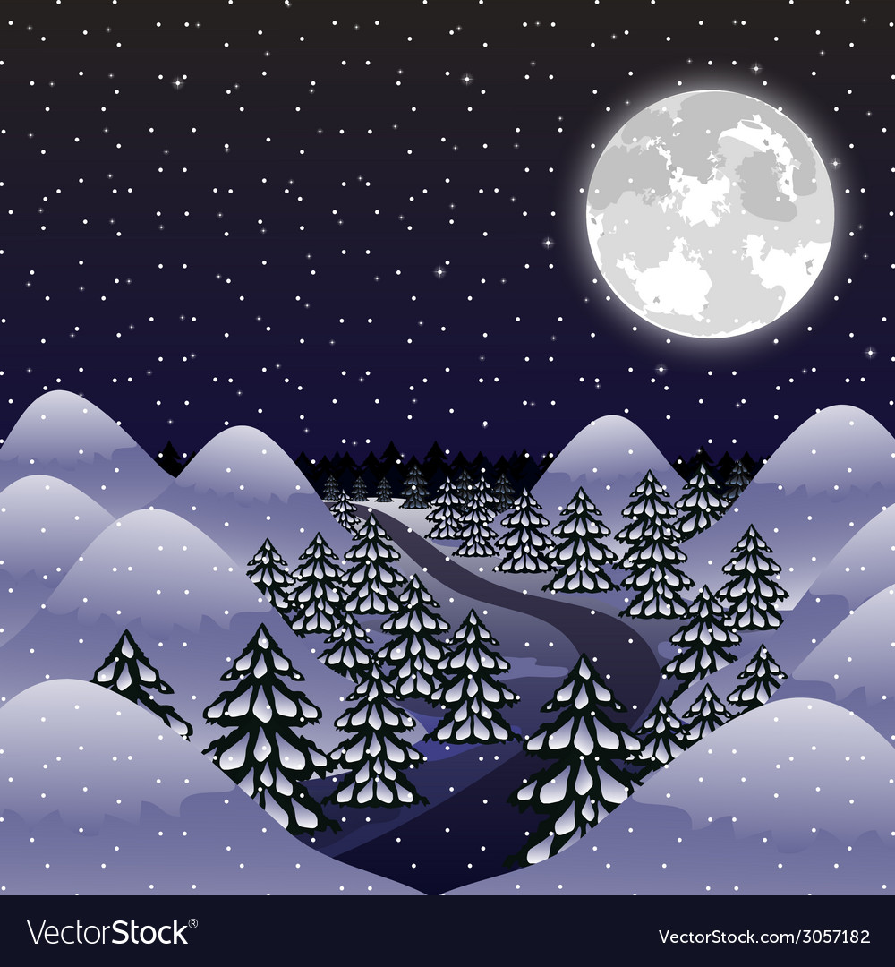 Christmas night background vector | Price: 1 Credit (USD $1)