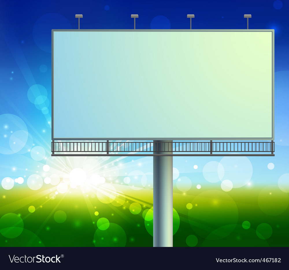 Construction on green field background vector | Price: 1 Credit (USD $1)