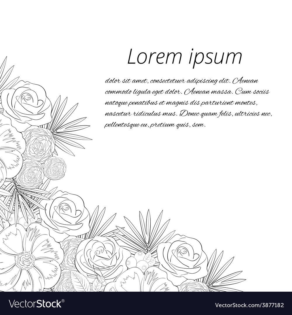 Greeting card on a white background vector | Price: 1 Credit (USD $1)