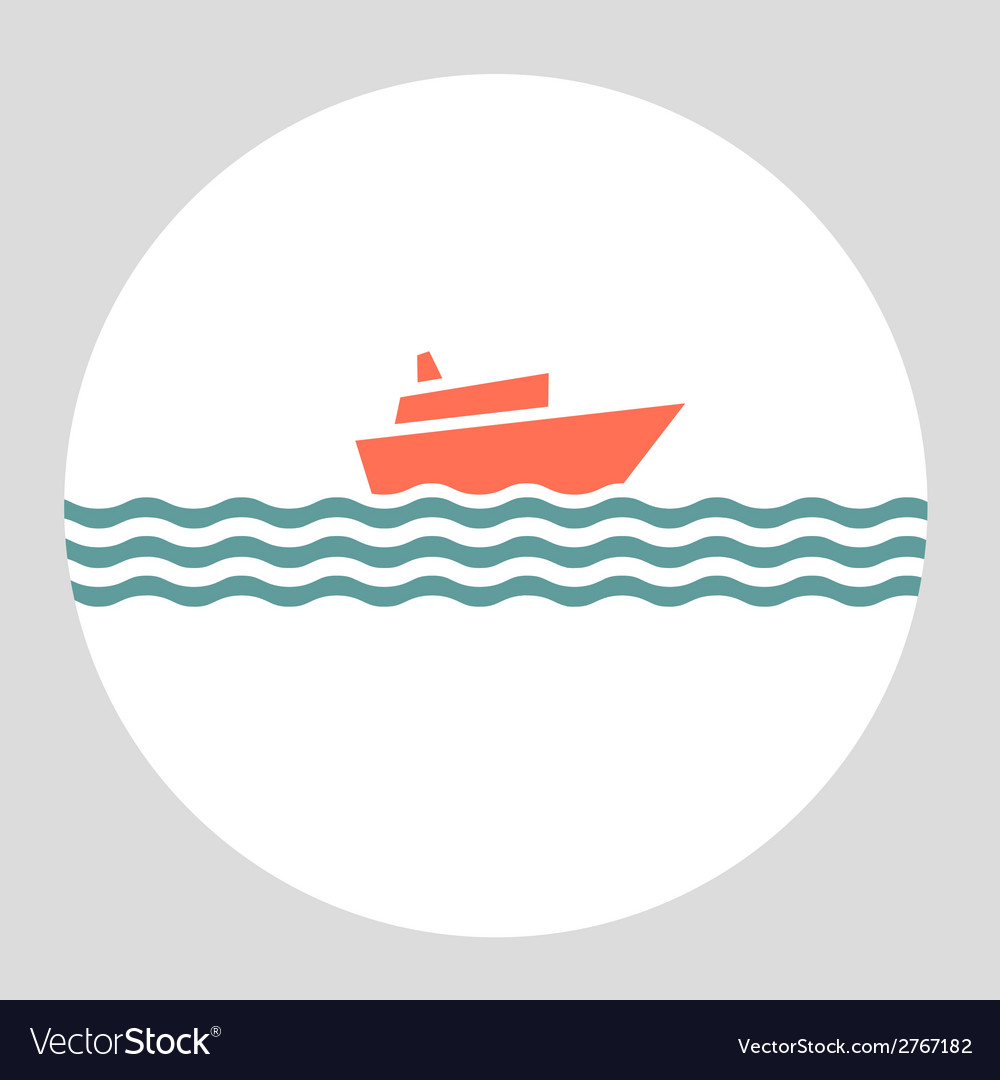 Icon cruise liner vector | Price: 1 Credit (USD $1)