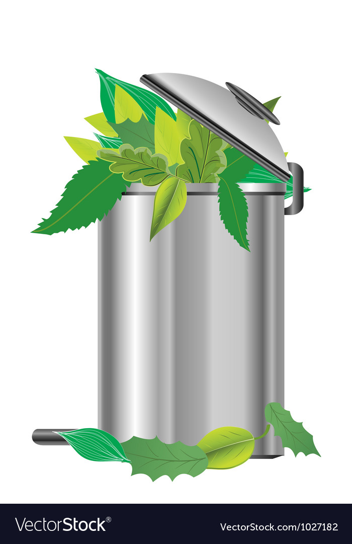 Leaf bin vector | Price: 1 Credit (USD $1)