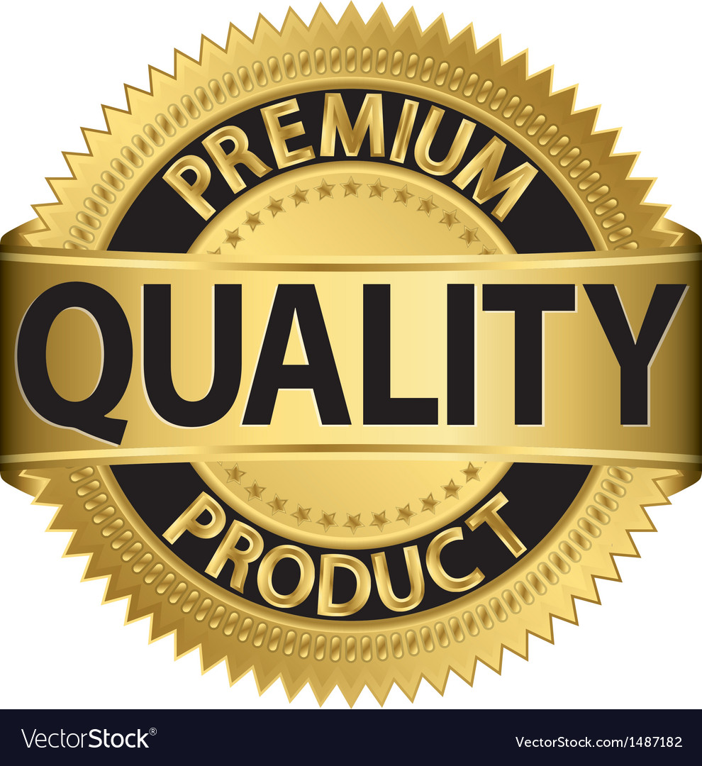 Premium quality product gold label vector | Price: 1 Credit (USD $1)