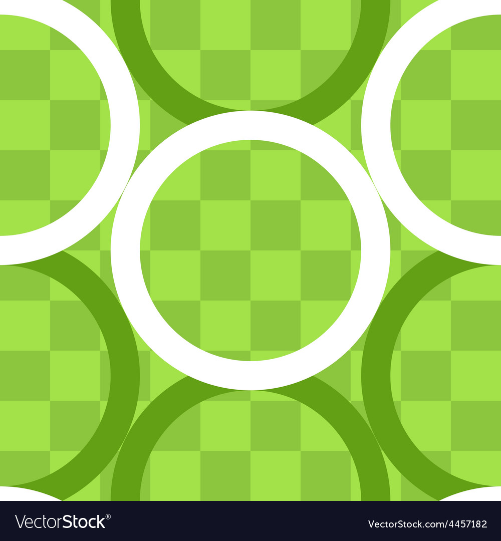 Seamless pattern of circles over checker board vector | Price: 1 Credit (USD $1)