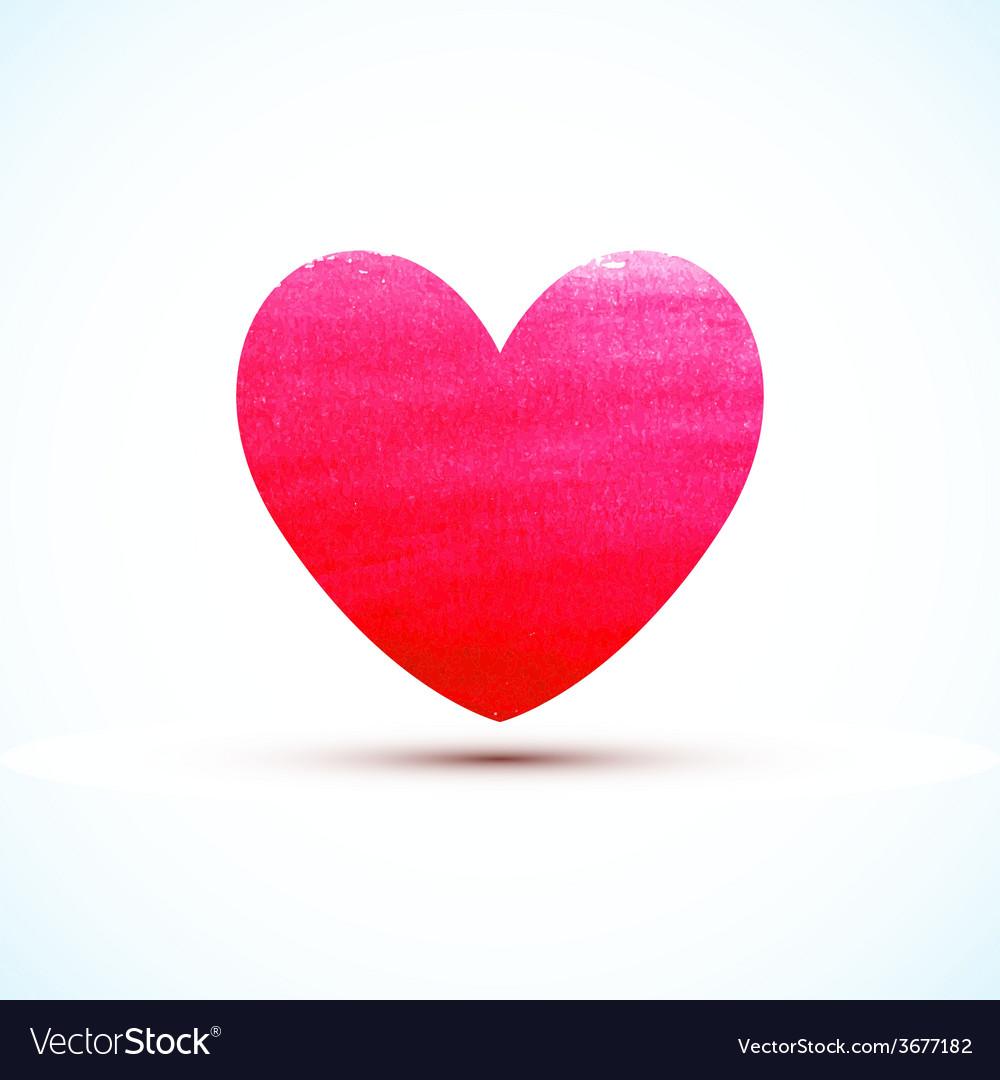 Watercolor paint heart vector | Price: 1 Credit (USD $1)