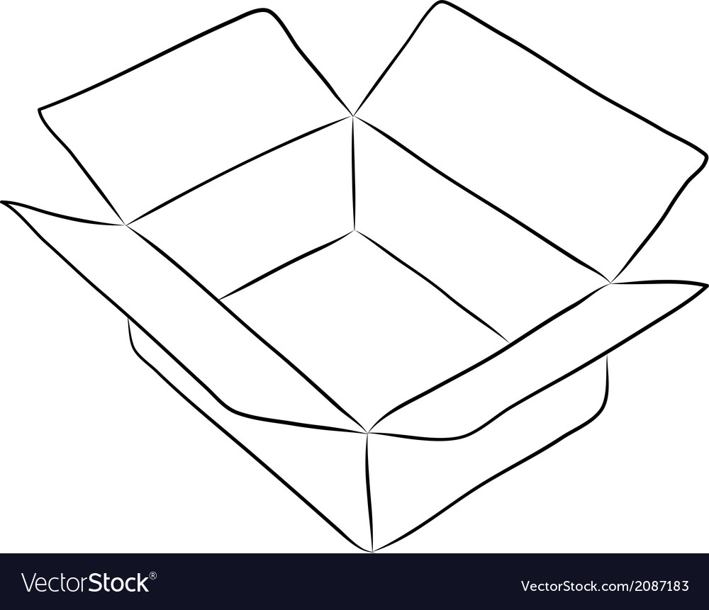 Drawing of box vector | Price: 1 Credit (USD $1)