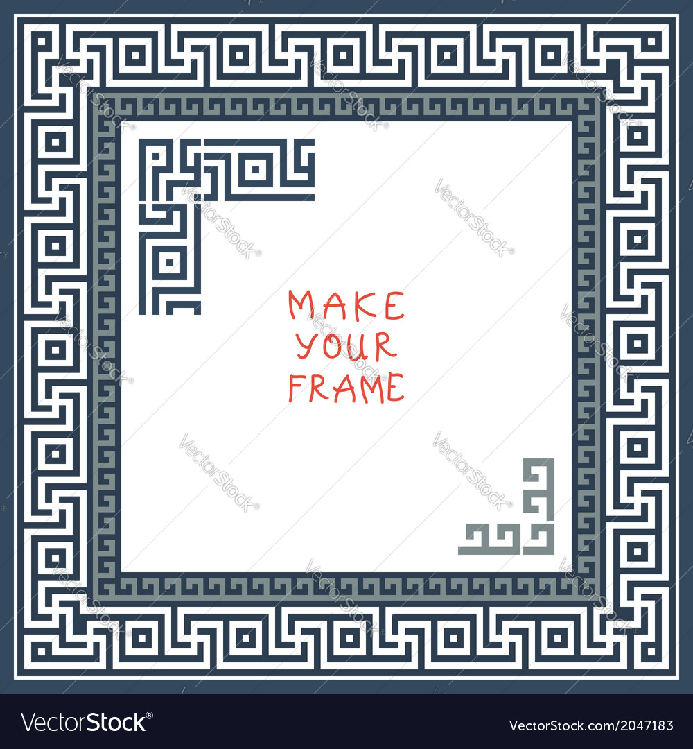 Frame with greek ornament meander vector | Price: 1 Credit (USD $1)