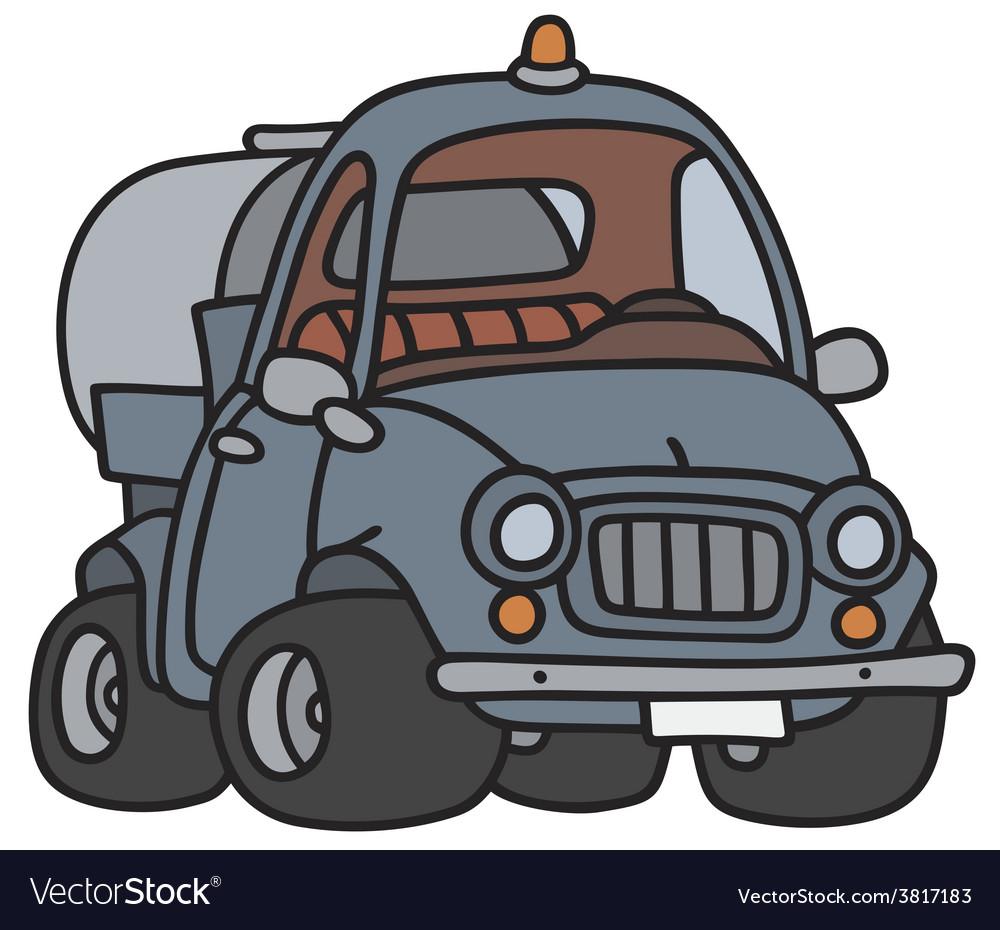 Funny tank truck vector | Price: 1 Credit (USD $1)