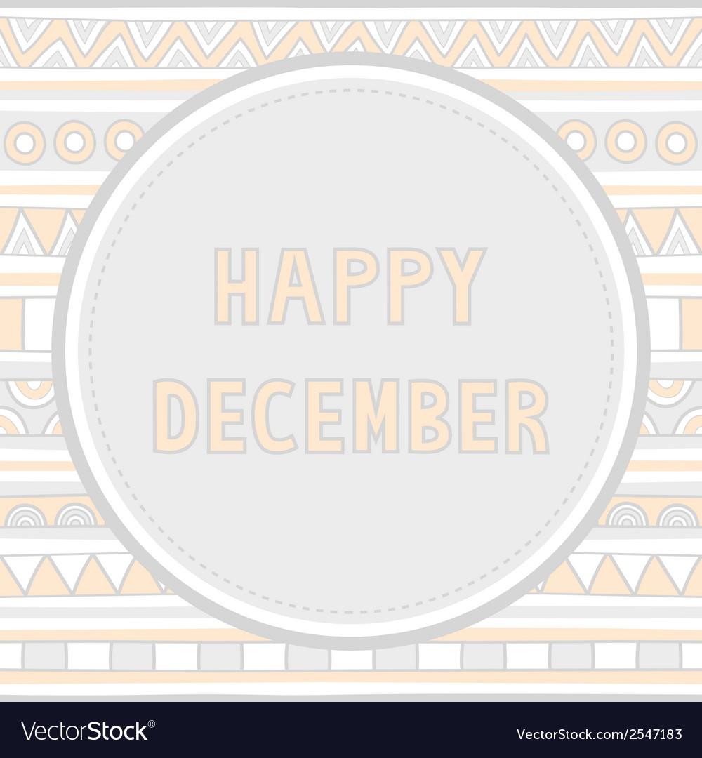 Happy december background1 vector | Price: 1 Credit (USD $1)