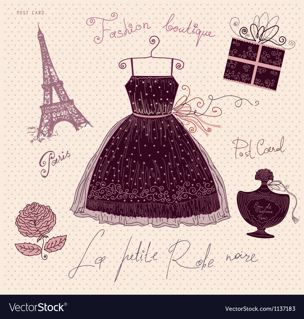 Little black dress vector | Price: 1 Credit (USD $1)