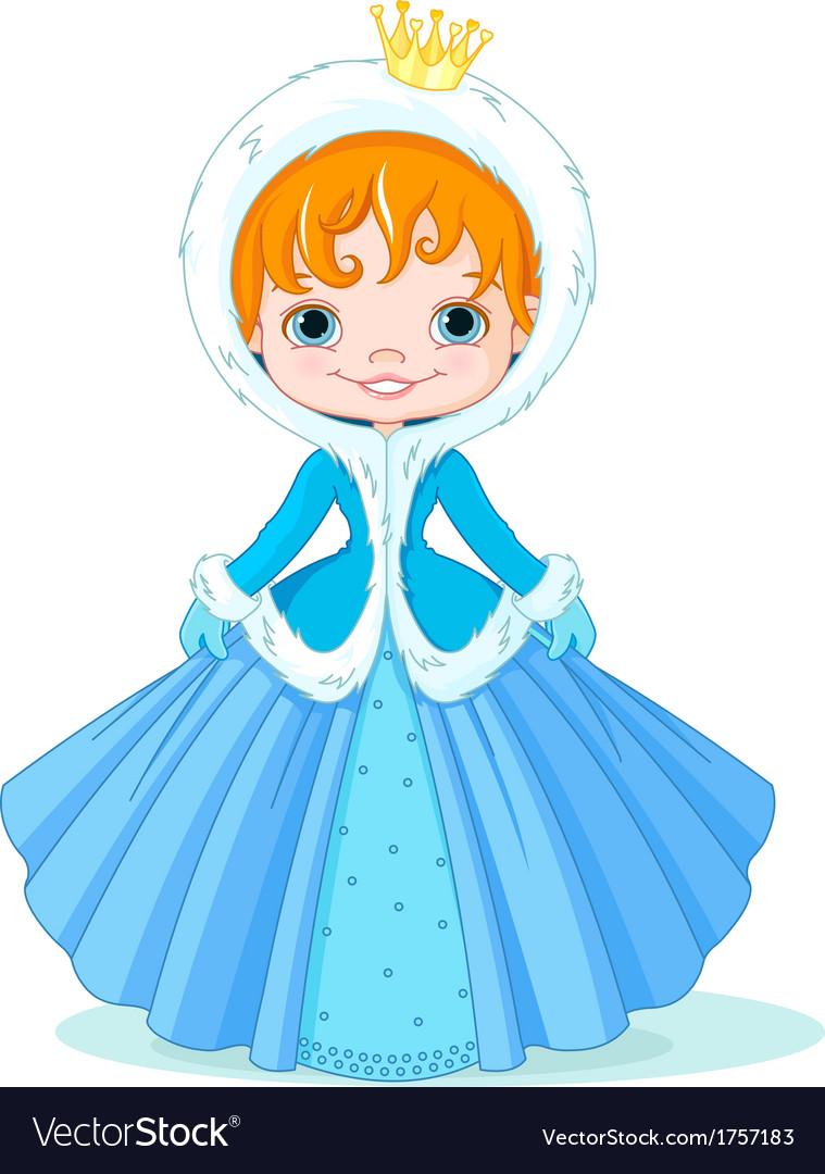 Little winter princess vector   Price: 1 Credit (USD $1)