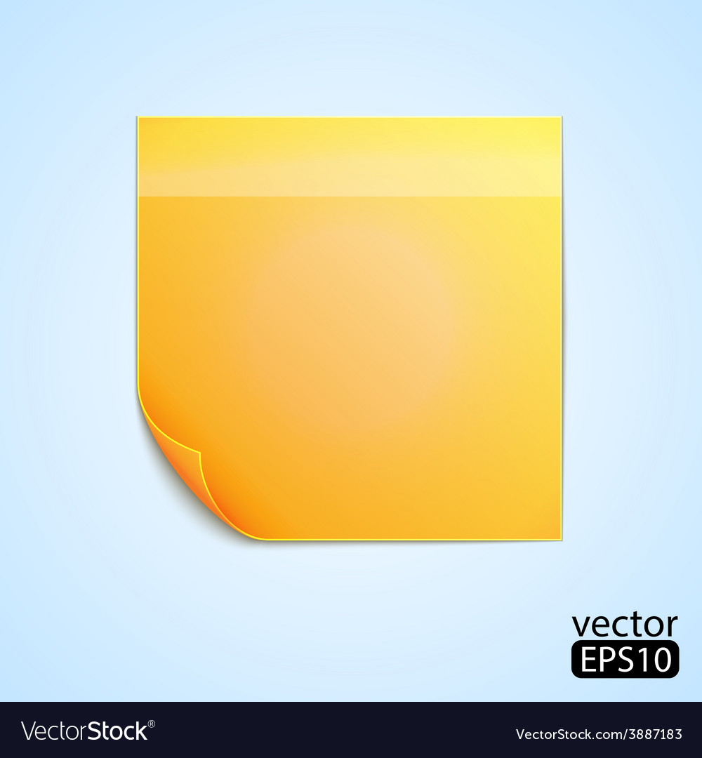 Note sticker vector | Price: 1 Credit (USD $1)