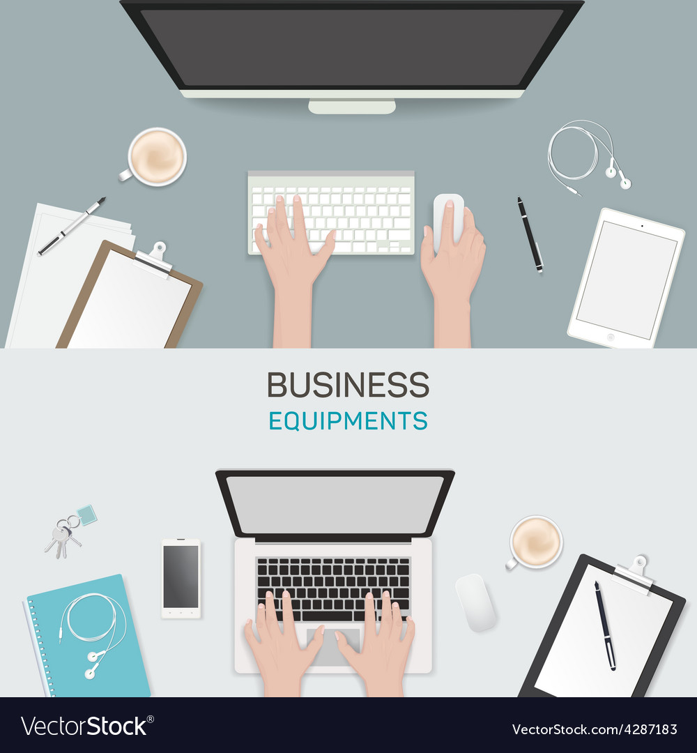 Office object business activity flat vector | Price: 1 Credit (USD $1)