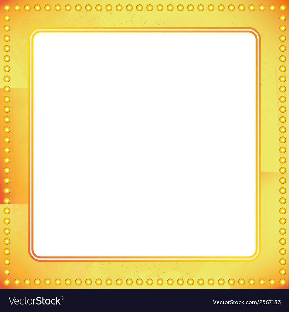 Old riveted gold metal frame vector | Price: 1 Credit (USD $1)