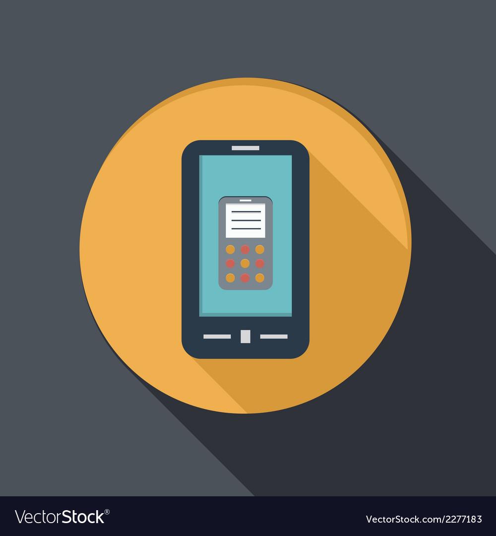 Paper flat icon smartphone vector | Price: 1 Credit (USD $1)