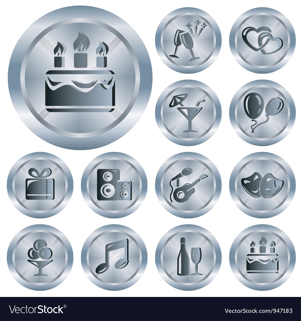 Party buttons vector   Price: 1 Credit (USD $1)