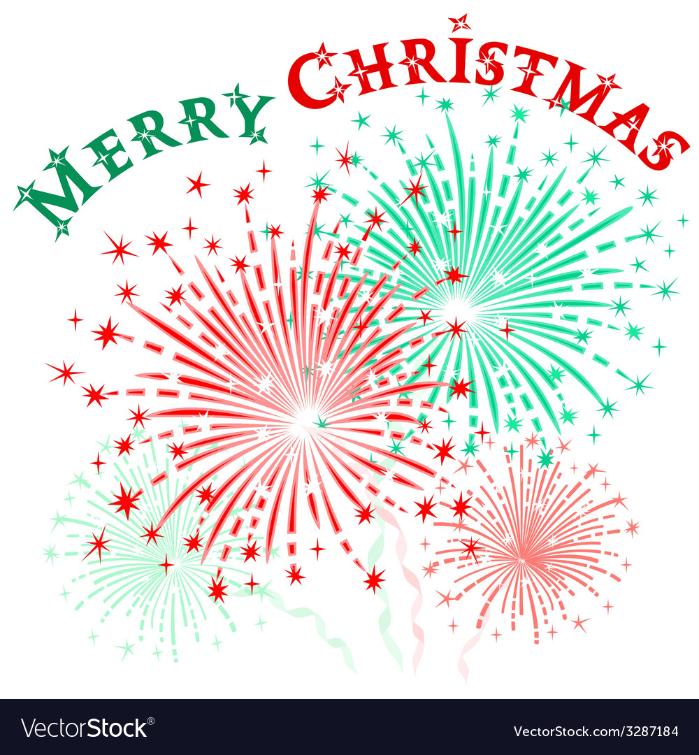 Christmas fireworks vector | Price: 1 Credit (USD $1)