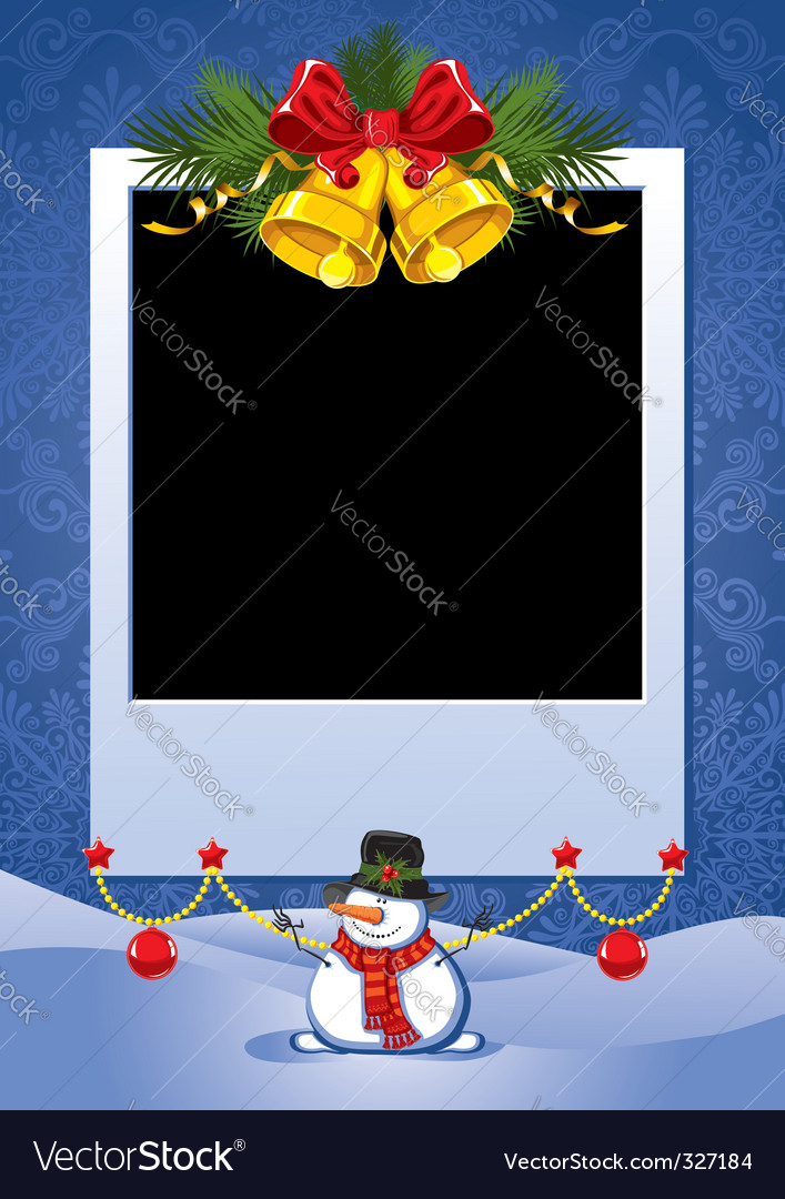 Christmas photo frame vector | Price: 1 Credit (USD $1)