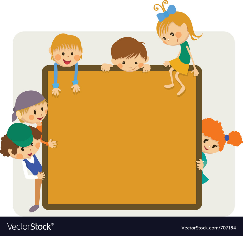 Kids frame notice vector | Price: 1 Credit (USD $1)