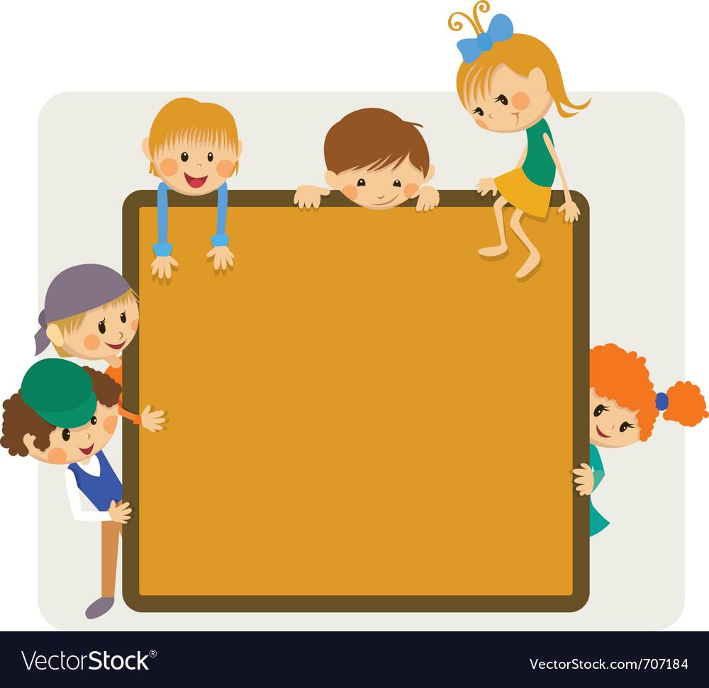 Kids frame notice vector | Price: 1 Credit (USD $1)