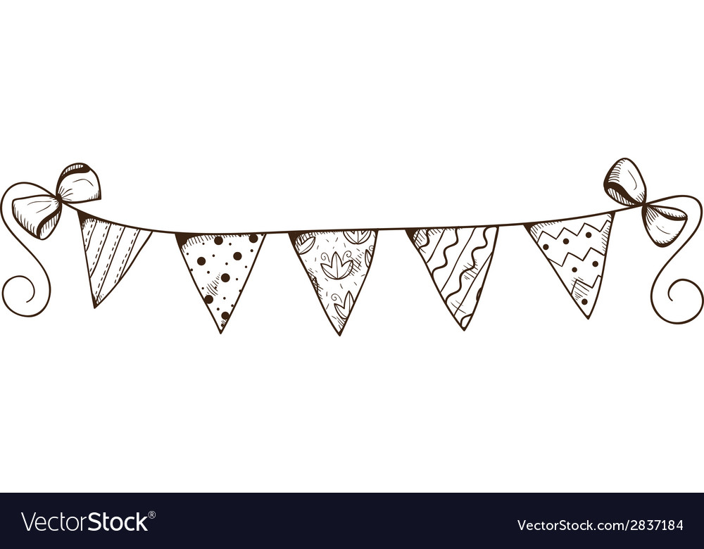 Party decorative garland of flags vector | Price: 1 Credit (USD $1)