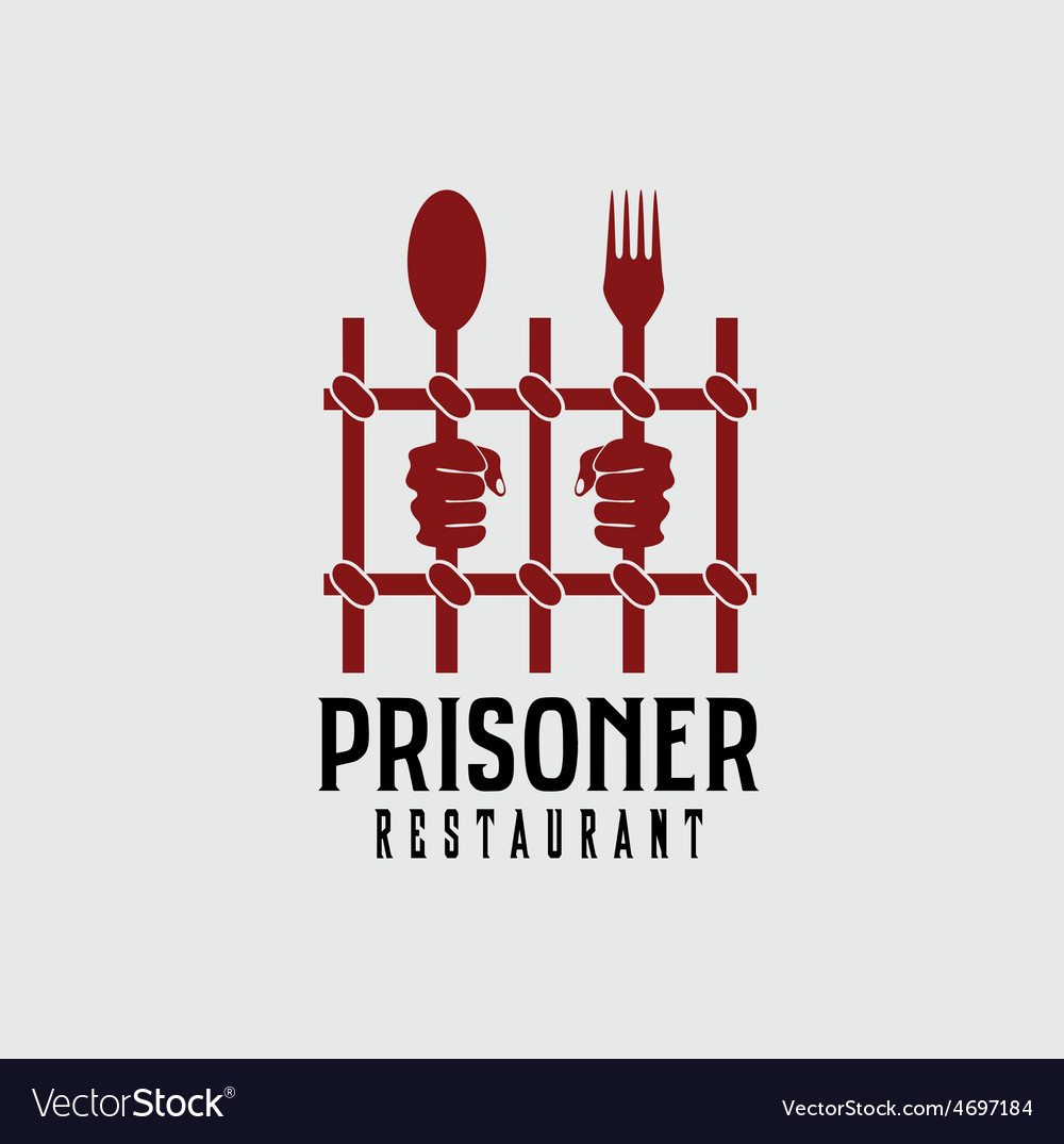Prisoner restaurant concept design template vector | Price: 1 Credit (USD $1)