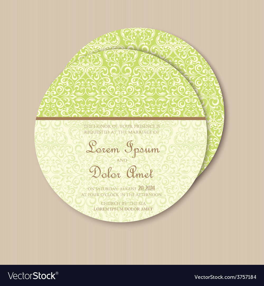 Round green vintage card vector | Price: 1 Credit (USD $1)