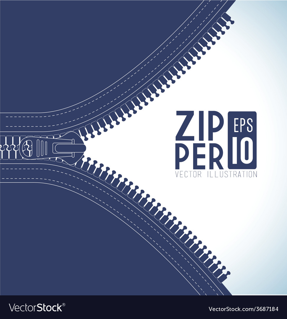 Zipper design vector