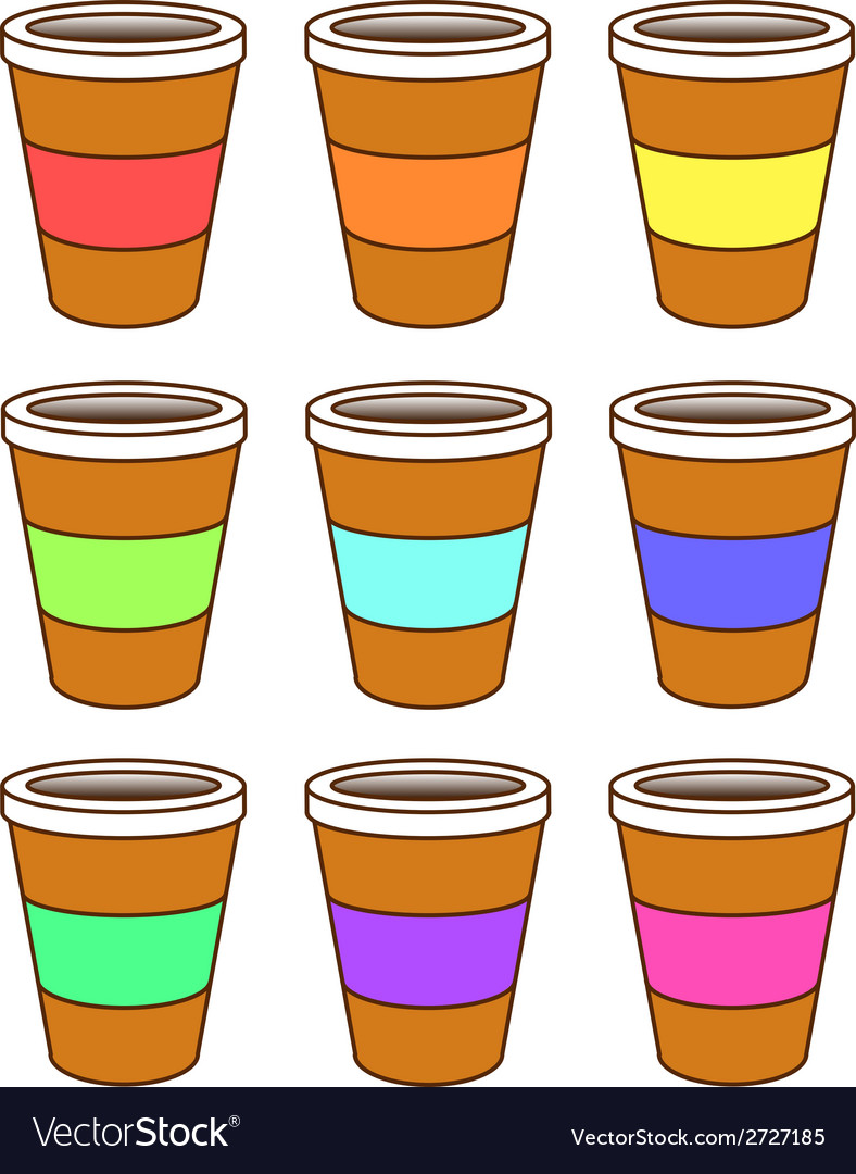 A set of coffee cups vector | Price: 1 Credit (USD $1)