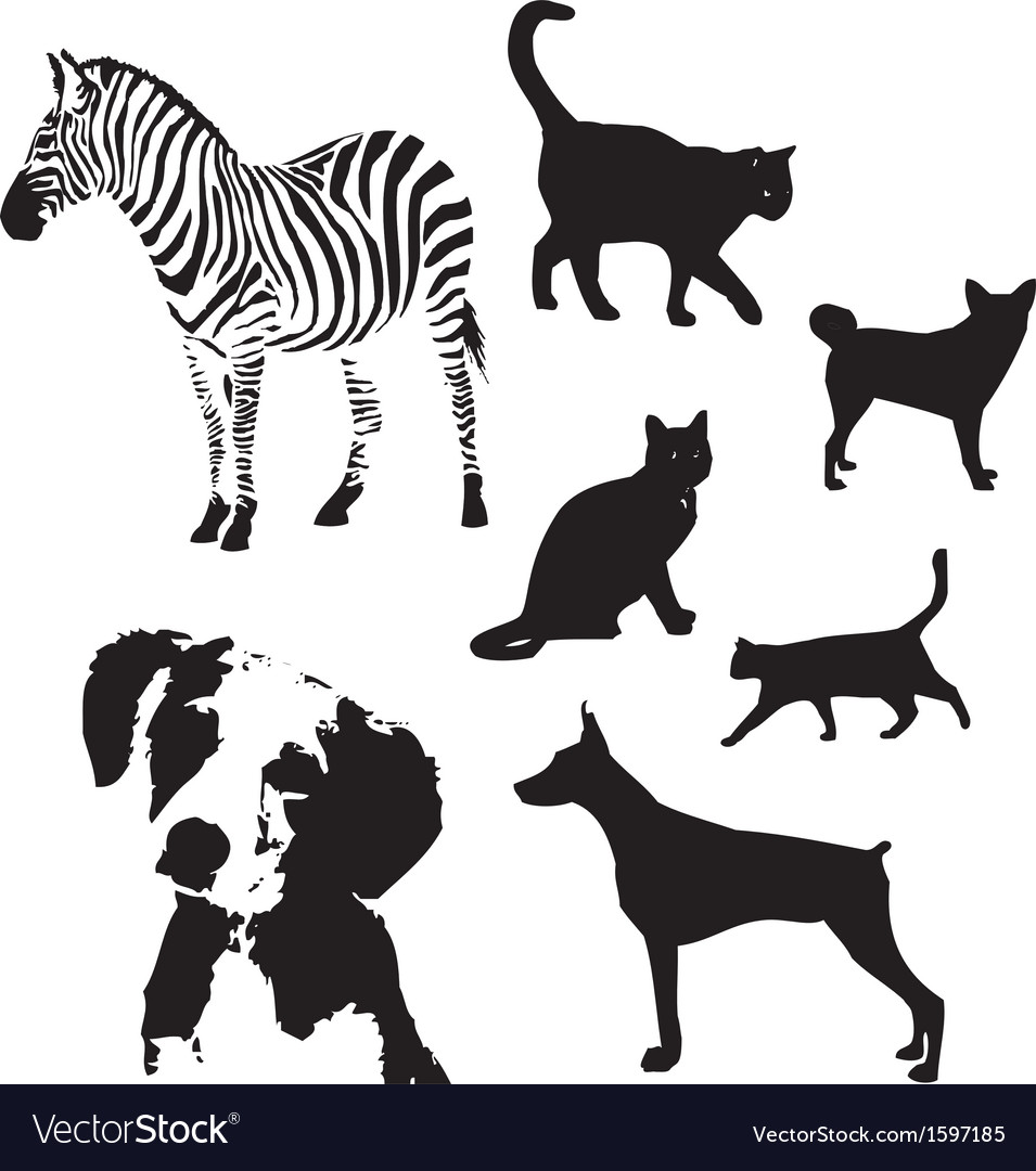 Animal silhouette set vector | Price: 1 Credit (USD $1)