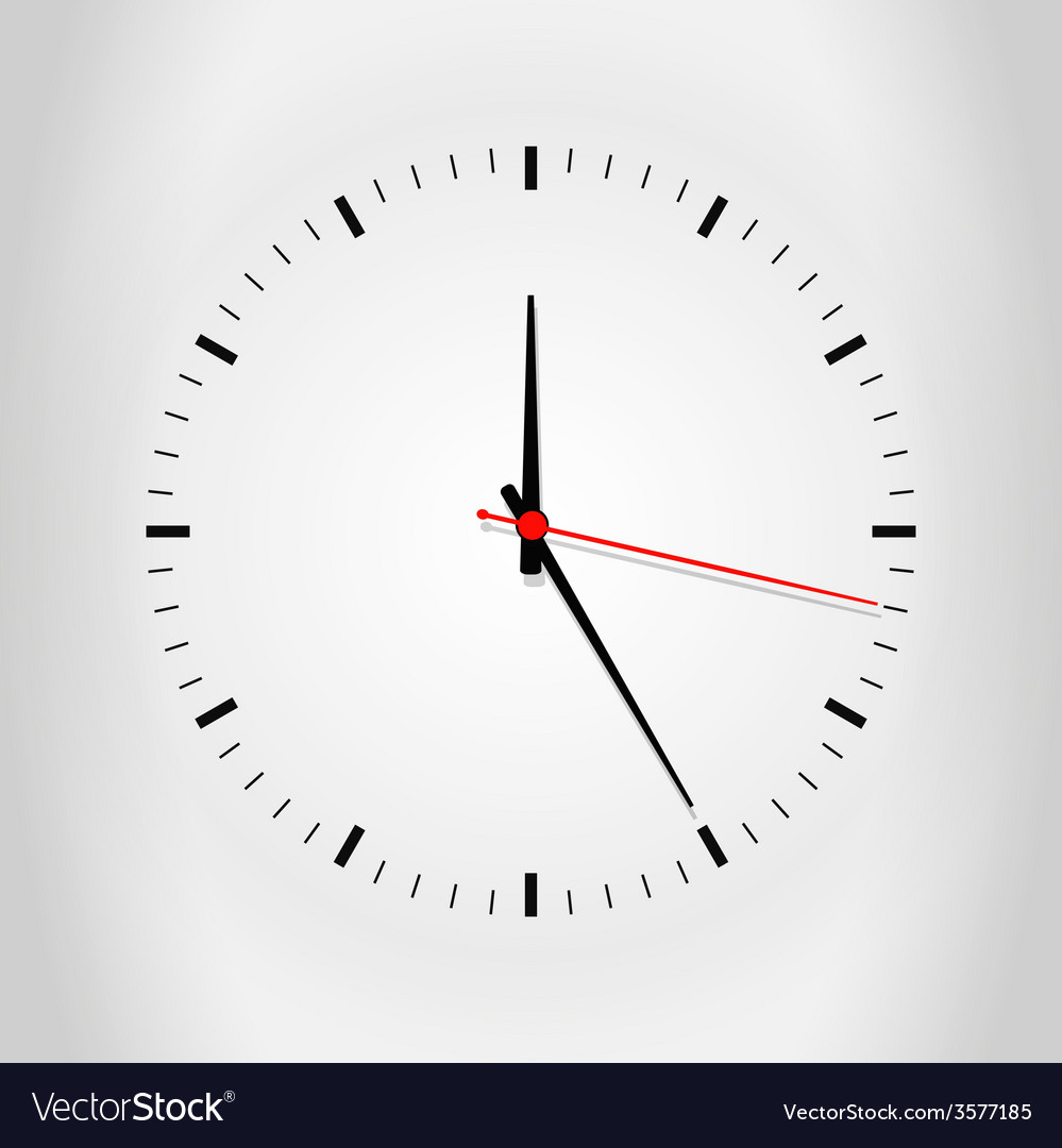 Clock face with shadow vector