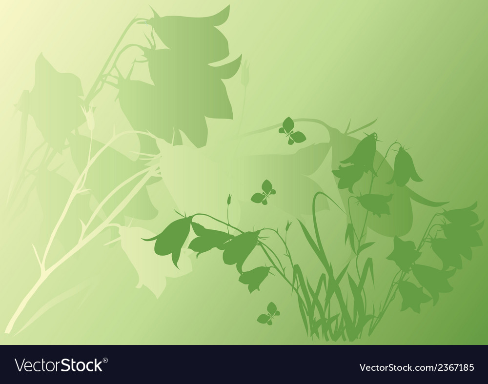 Green background with bells vector | Price: 1 Credit (USD $1)