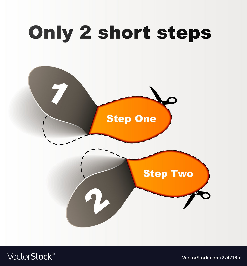 Imprint short steps vector | Price: 1 Credit (USD $1)