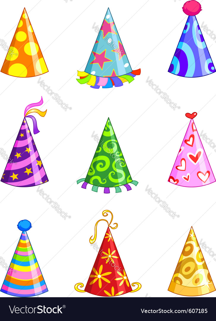 Party hats vector | Price: 3 Credit (USD $3)