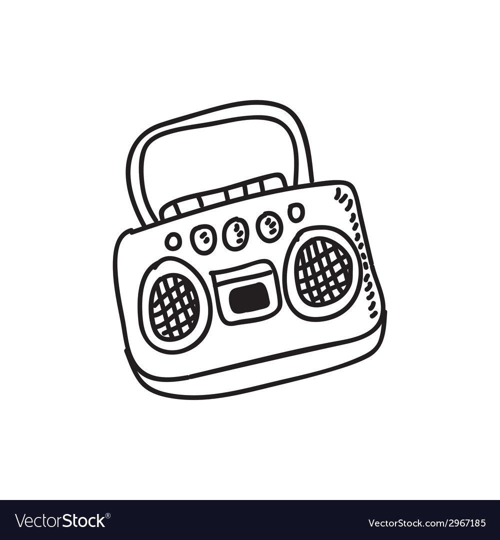 Radio design vector | Price: 1 Credit (USD $1)