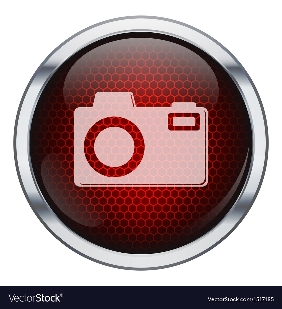 Red honeycomb photo machine icon vector | Price: 1 Credit (USD $1)