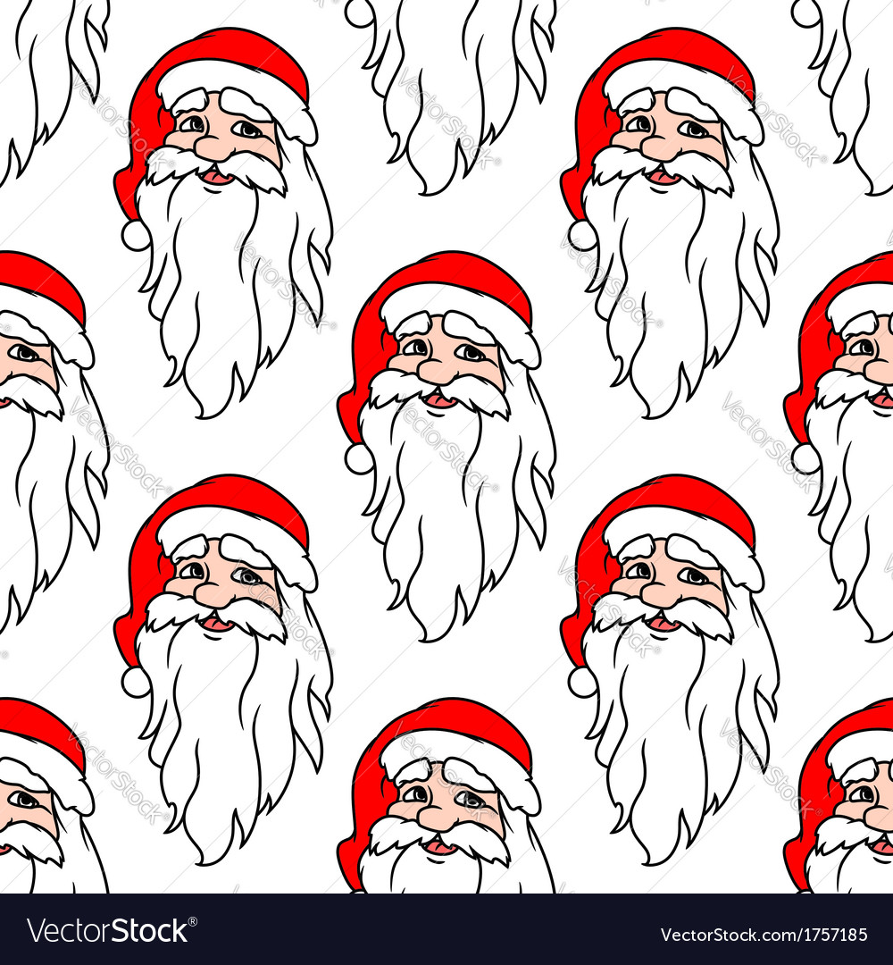 Seamless pattern with funny santa vector | Price: 1 Credit (USD $1)
