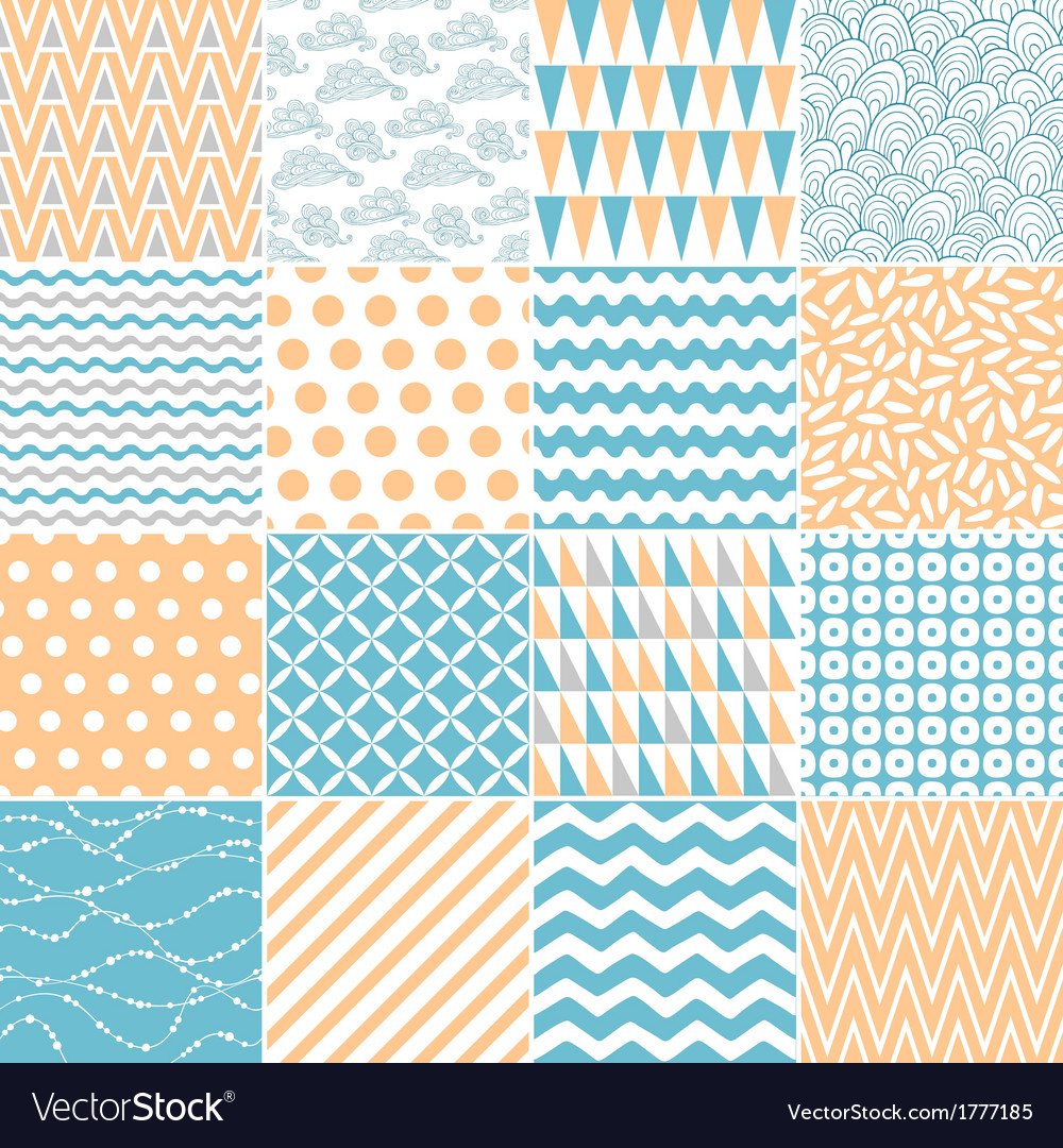 Set of abstract seamless patterns vector | Price: 1 Credit (USD $1)