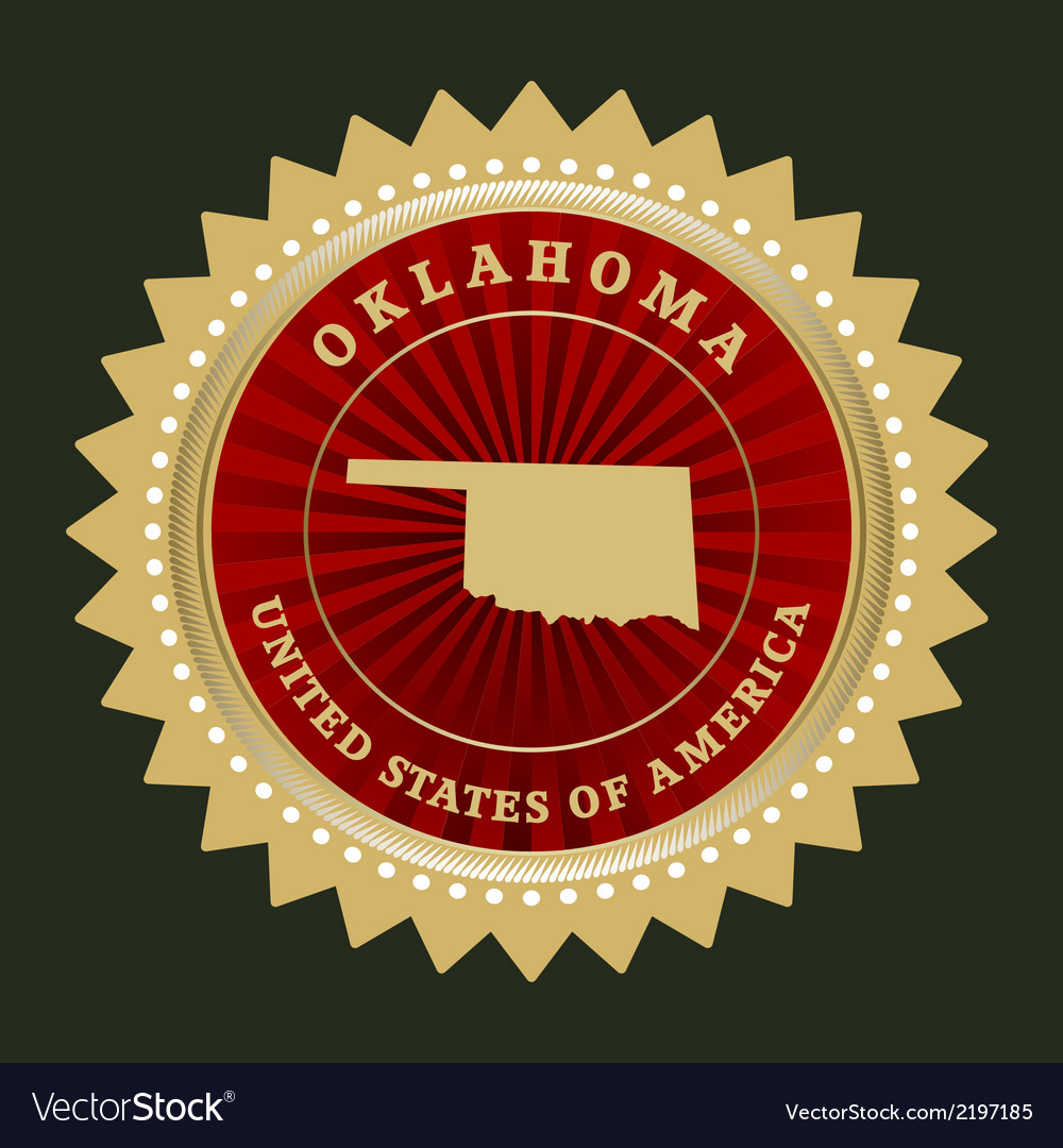 Star label oklahoma vector | Price: 1 Credit (USD $1)
