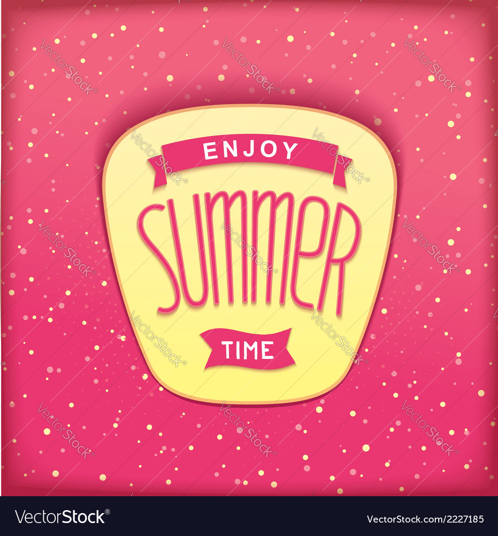 Sweet summer sticker vector | Price: 1 Credit (USD $1)