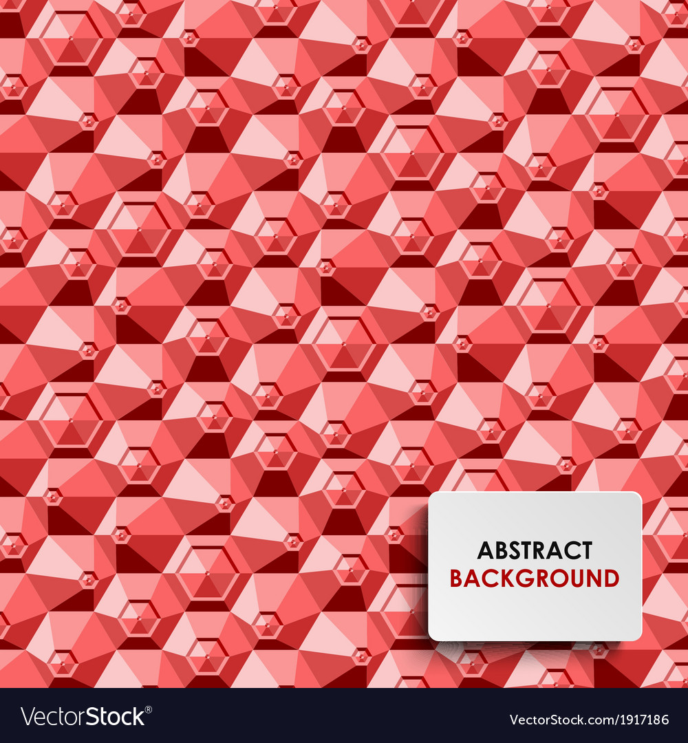 Abstract red hexagon background template vector | Price: 1 Credit (USD $1)