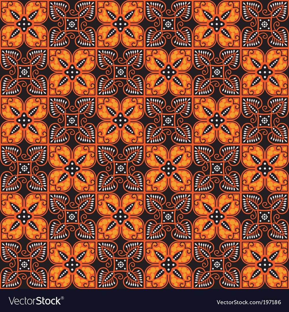 Batik pattern vector | Price: 1 Credit (USD $1)