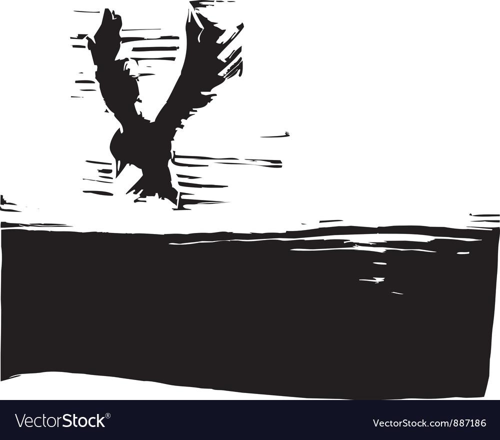 Bird in a sky vector   Price: 1 Credit (USD $1)